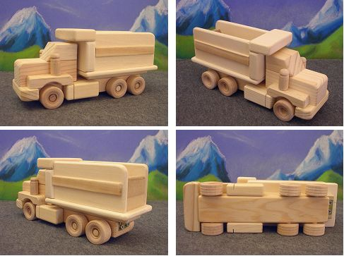 Wood Toy Dump Truck Kens wooden toys - handmade