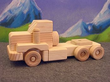 Wooden Toy Tandem Day-Cab Tractor