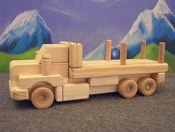 Wooden toy logging truck plans