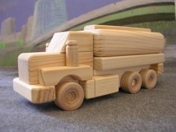 Wooden Toys Tandem Tanker Truck