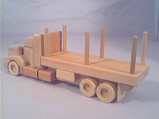 Wooden Toy Trucks Wooden toys - tandem log truck