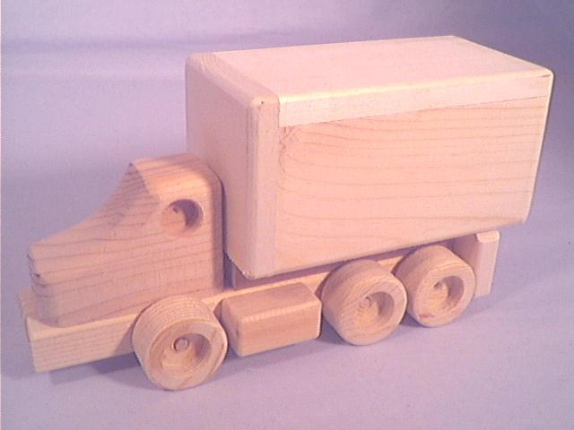 Kens Wooden Toys Tuff Toy Tandem Van Truck
