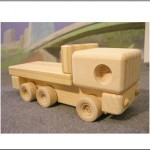 Wooden flatbed truck