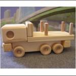 Wooden Log truck